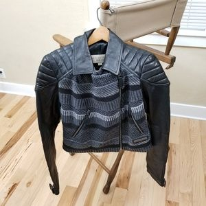 Burberry Brit Striped Motorcycle Jacket